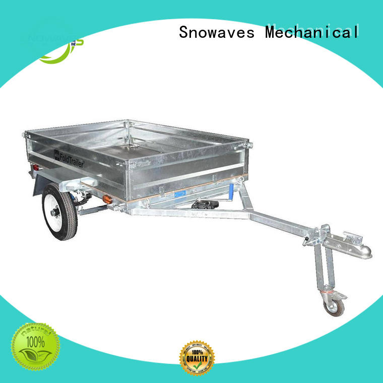 Snowaves Mechanical folding folding trailers for business for one-way trips