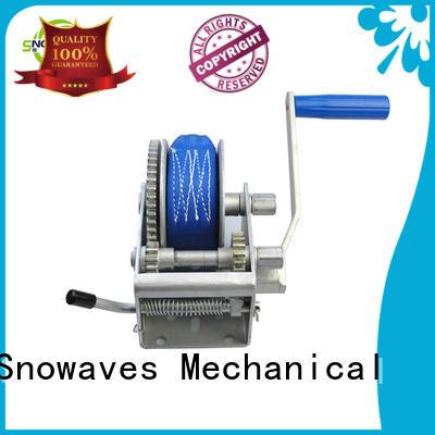 Snowaves Mechanical Custom manual trailer winch manufacturers for car