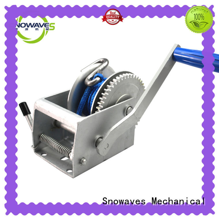 Snowaves Mechanical speed boat hand winch company for picnics
