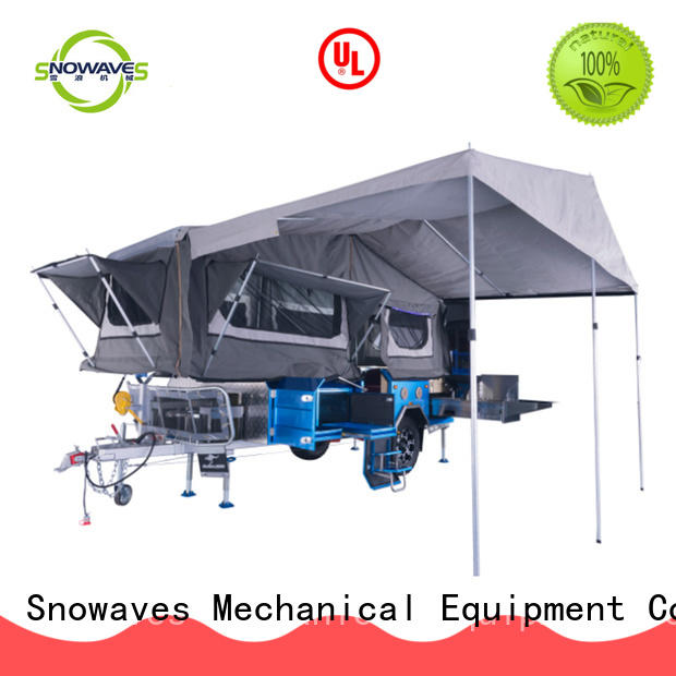 Snowaves Mechanical folding trailers manufacturers for accident