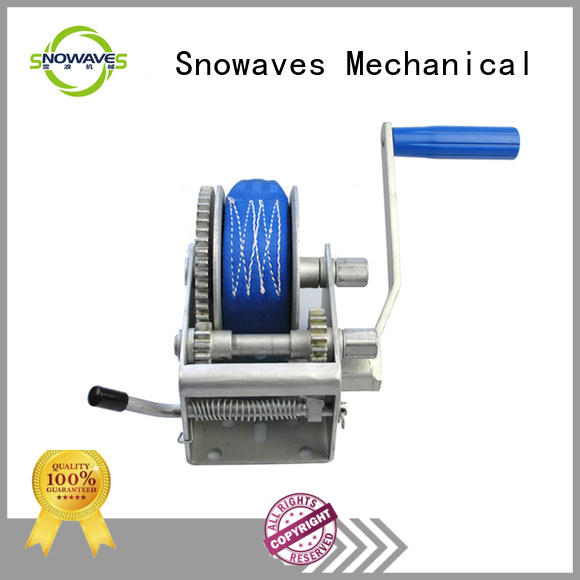 Snowaves Mechanical Top boat hand winch Supply for car