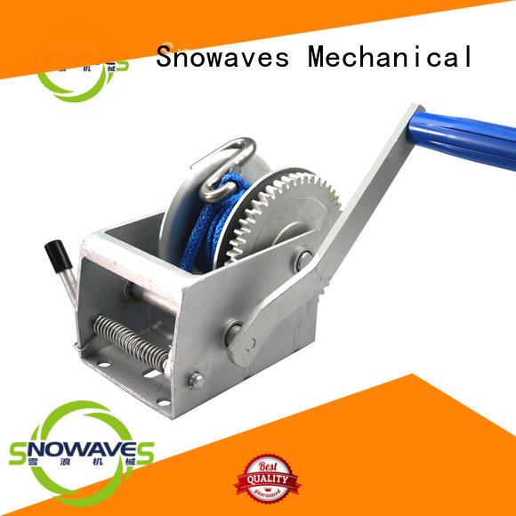 Snowaves Mechanical Brand speed boat trailer hand winch trailer supplier