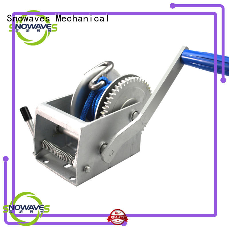 single small manual winch trailer for picnics Snowaves Mechanical