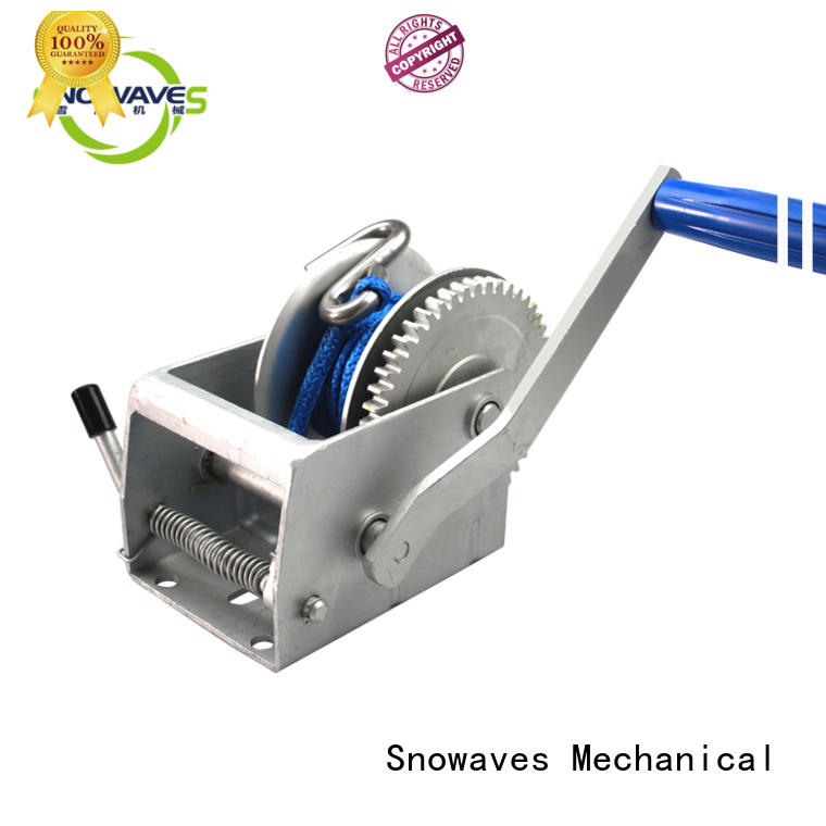 Snowaves Mechanical Custom boat hand winch supply for car