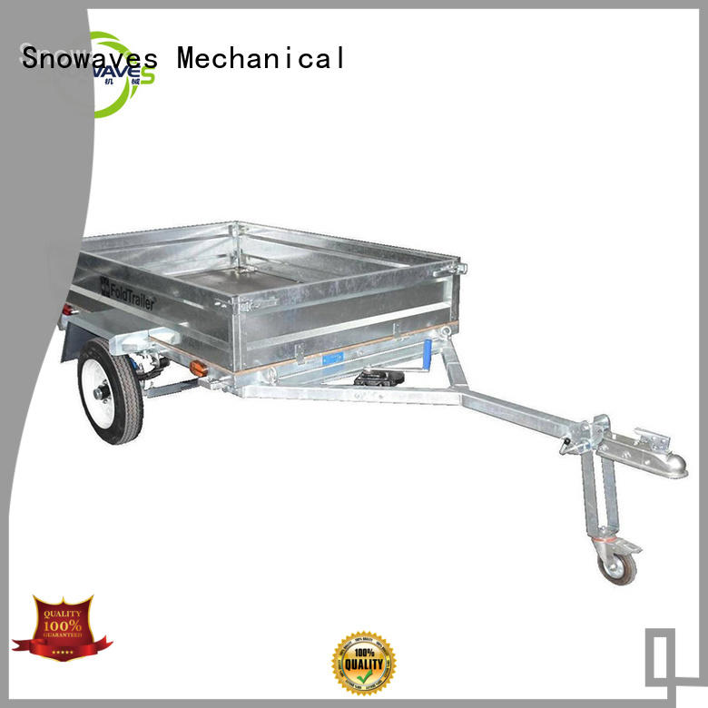 Snowaves Mechanical Custom foldable trailer company for accident