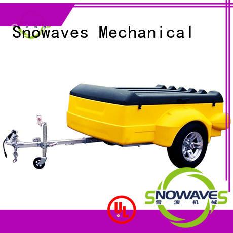 Snowaves Mechanical Brand trailers lldpe trailer plastic garden trailer