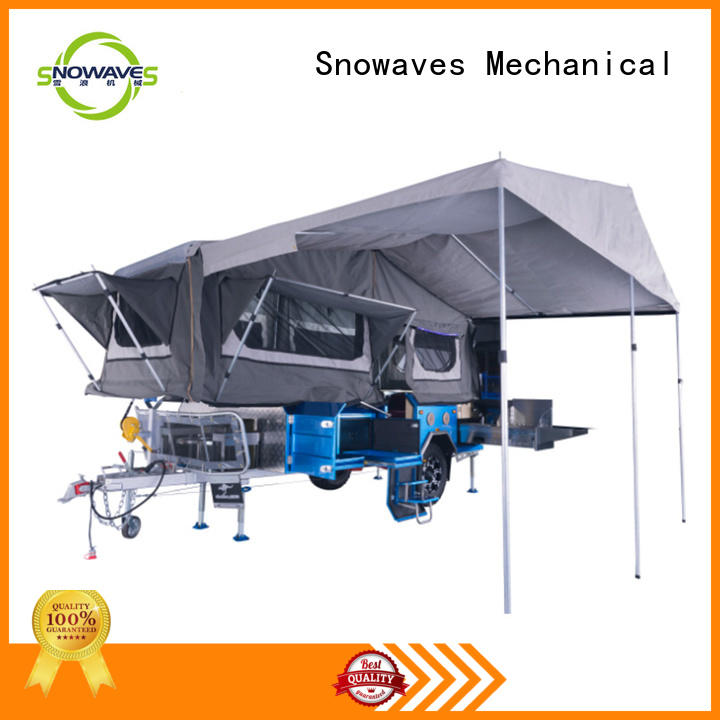 Snowaves Mechanical data folding trailers factory for activities