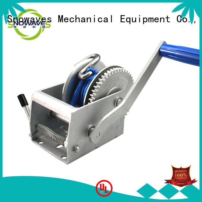 Snowaves Mechanical trailer manual winch factory for picnics