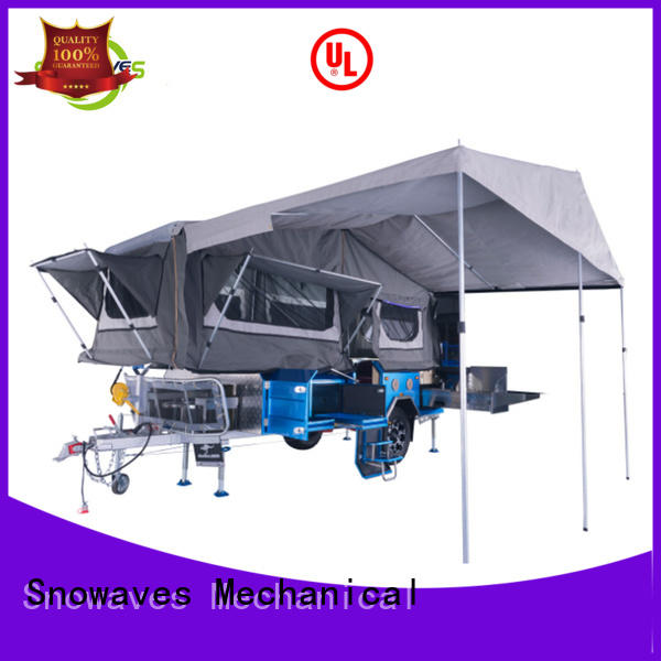 Snowaves Mechanical Wholesale fold up trailer manufacturers for activities