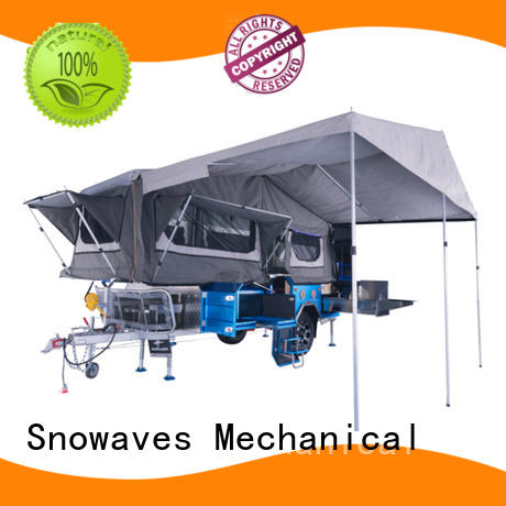 folding utility trailer steel Towbal folding trailers forward Snowaves Mechanical Brand