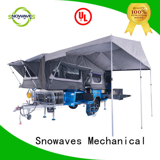 Snowaves Mechanical forward foldable trailer company for accident
