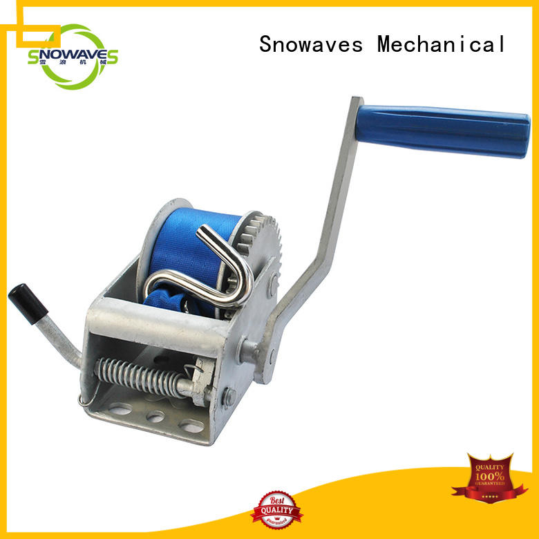 Snowaves Mechanical pulling manual trailer winch Suppliers for boat
