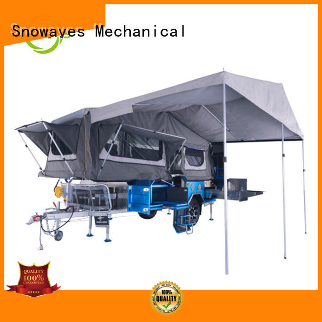 Snowaves Mechanical foldable trailer for sale for camp