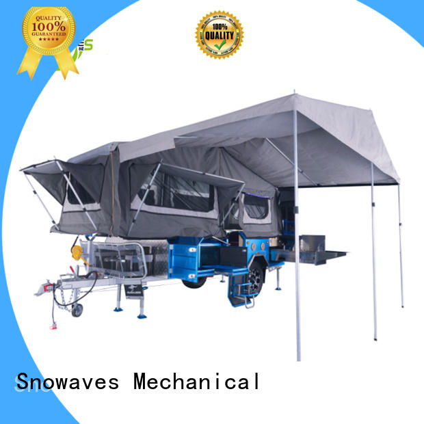 Snowaves Mechanical quality fold up trailer company for activities
