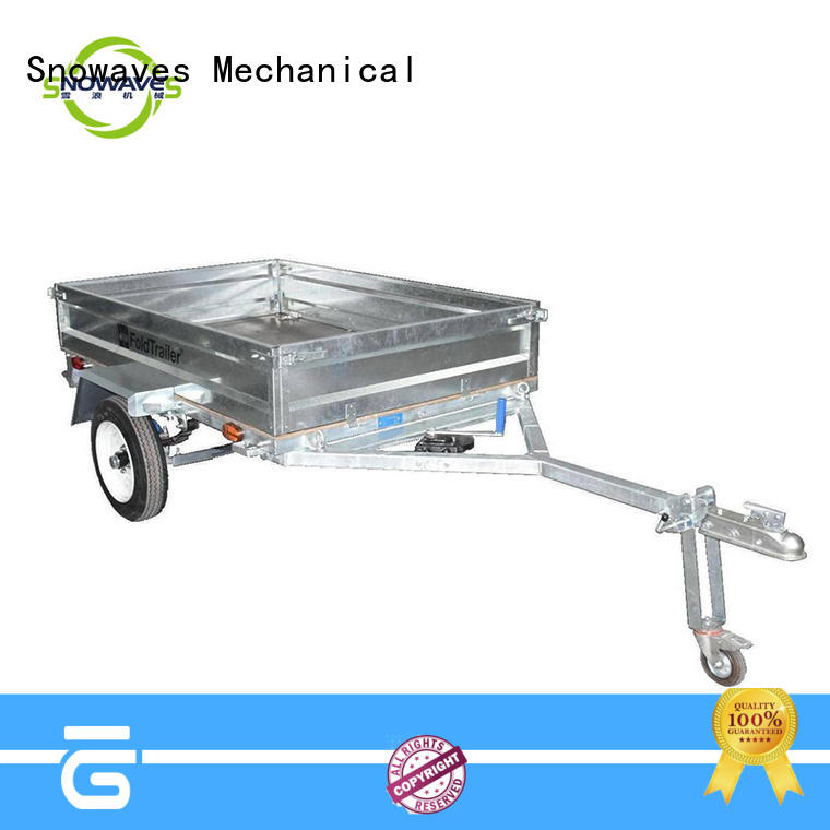 Snowaves Mechanical Top foldable trailer Supply for accident