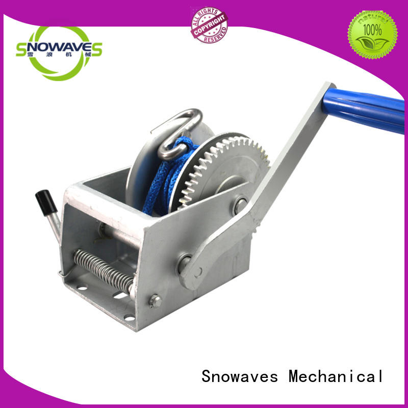 Snowaves Mechanical winch boat hand winch Supply for picnics