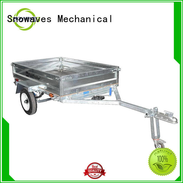 Snowaves Mechanical data foldable trailer manufacturers for activities