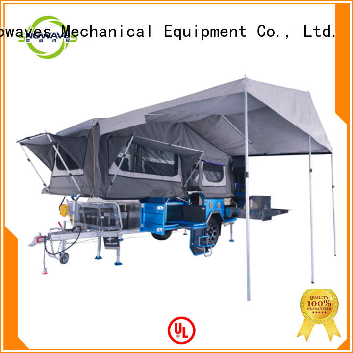 Snowaves Mechanical folding travel trailers China supplier for one-way trips