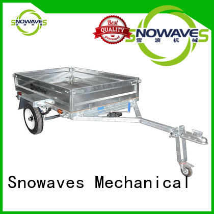 Snowaves Mechanical fashion fold up trailer manufacturer for accident