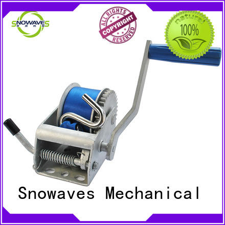 Snowaves Mechanical trailer boat hand winch company for picnics