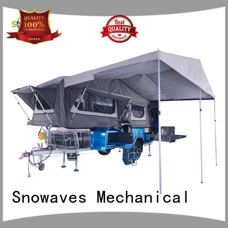Snowaves Mechanical folding trailers company for accident