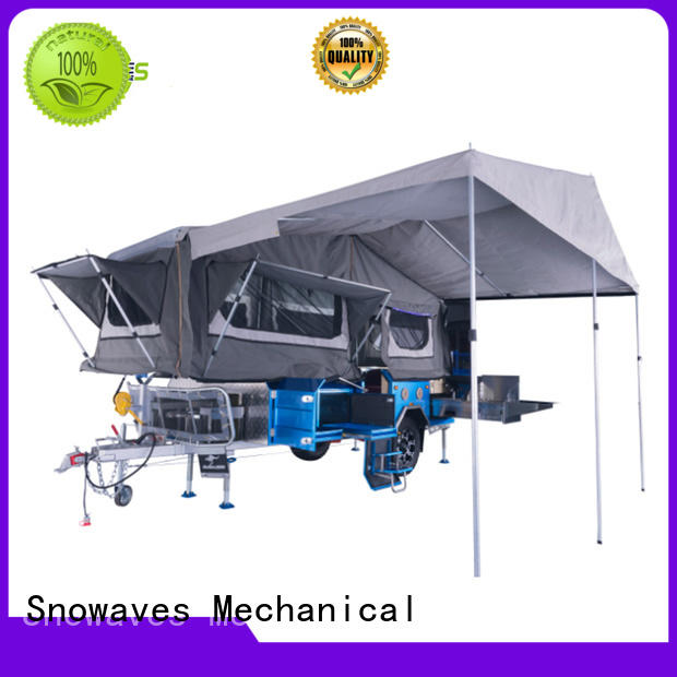 folding aluminium boat trailers fold for one-way trips Snowaves Mechanical