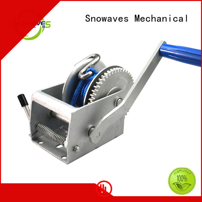 Snowaves Mechanical speed manual trailer winch factory for car