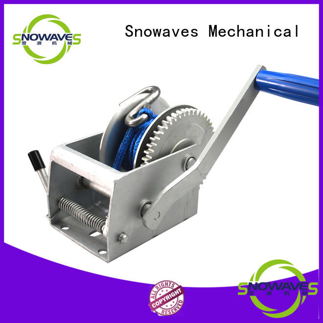 Snowaves Mechanical winch manual winch factory for car