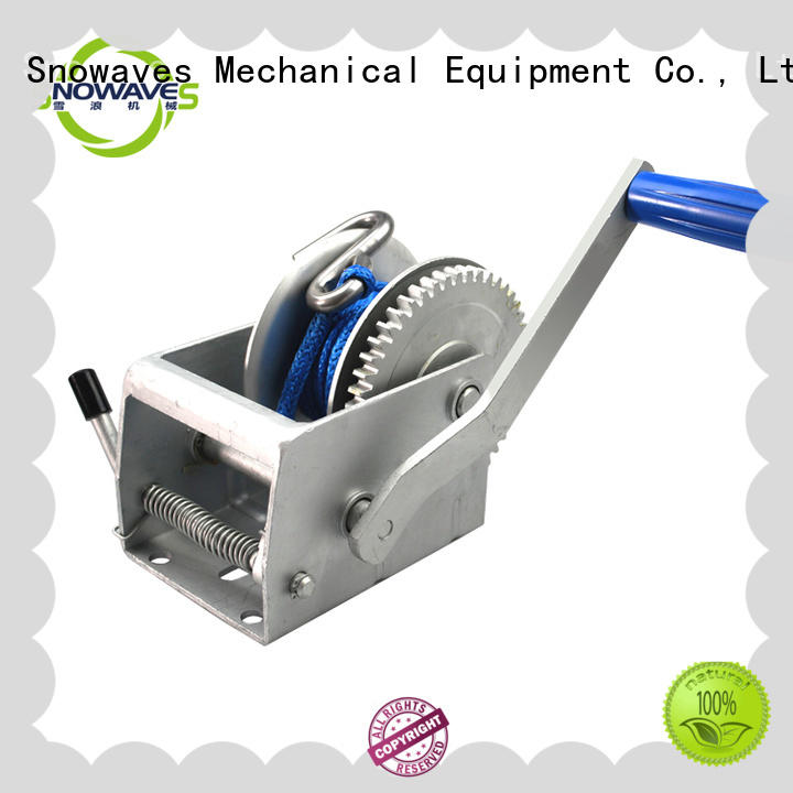 Snowaves Mechanical Custom boat hand winch Suppliers for picnics