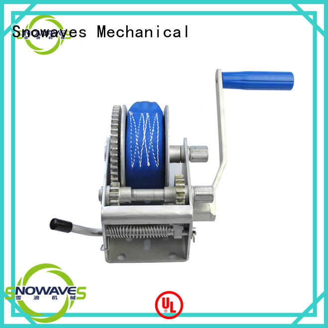 Snowaves Mechanical Best manual trailer winch factory for car