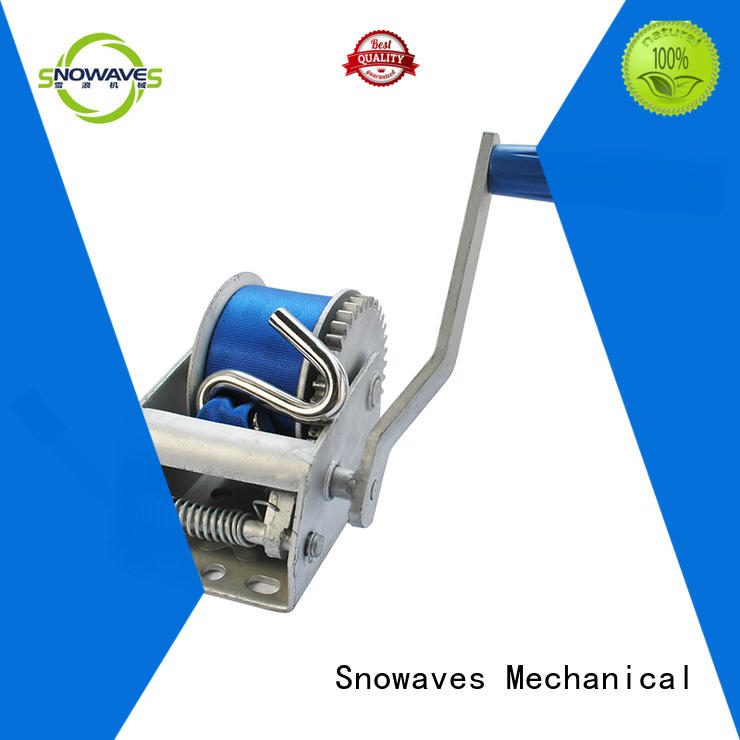 Snowaves Mechanical Brand pulling speed winch custom boat trailer hand winch