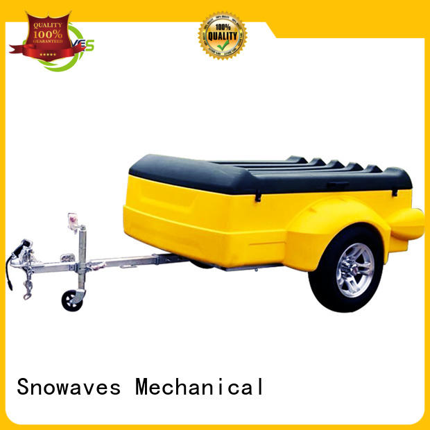 Snowaves Mechanical trailer luggage trailer factory for outdoor activities