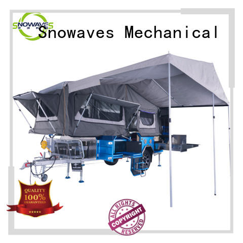 Snowaves Mechanical newly fold up trailer China supplier for one-way trips