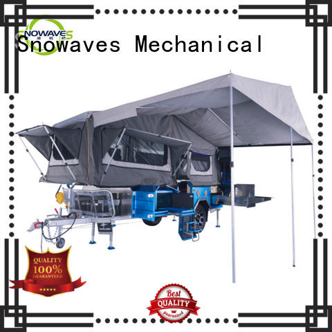 Snowaves Mechanical new-arrival pop up camper trailer for one-way trips