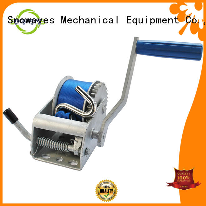 Snowaves Mechanical speed boat hand winch manufacturers for boat