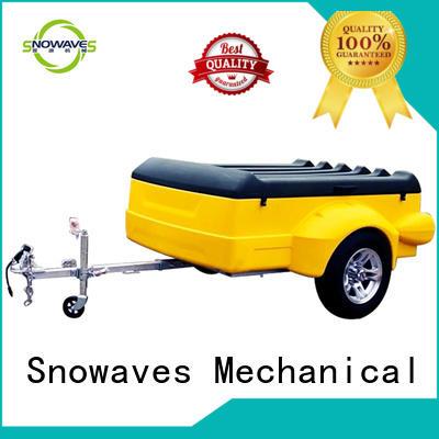 Snowaves Mechanical hot-sale plastic dump trailer by Chinese manufaturer for webbing strap