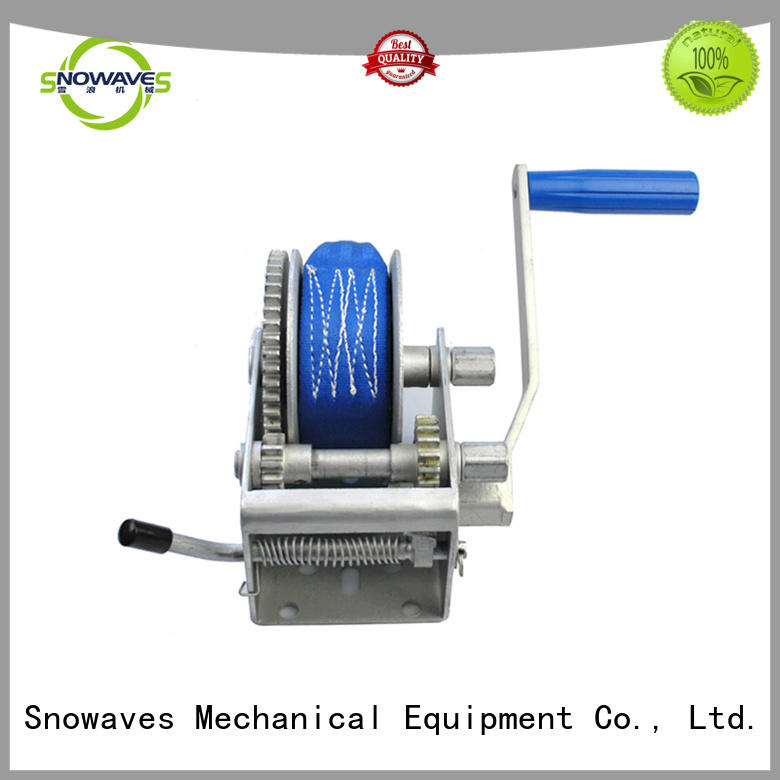 Snowaves Mechanical single small hand crank winch at discount for picnics