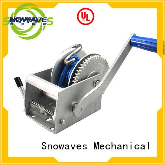 pulling manual winch hinge Snowaves Mechanical company
