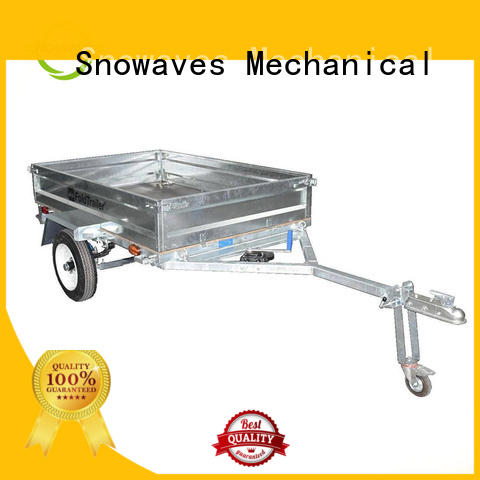 Top foldable trailer forward supply for one-way trips