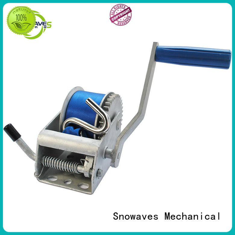 Snowaves Mechanical excellent heavy duty hand winch bulk production for boat