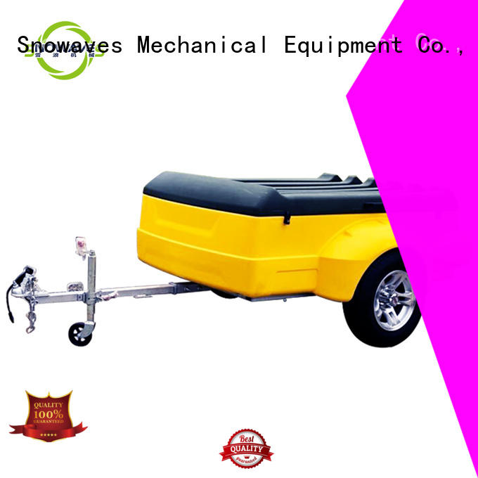 Snowaves Mechanical hot-sale plastic dump trailer touring for no cable