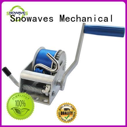 Hot single boat trailer hand winch pulling Snowaves Mechanical Brand