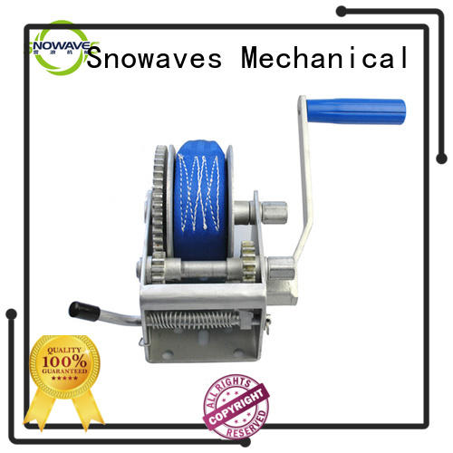 single manual winch pulling for picnics Snowaves Mechanical