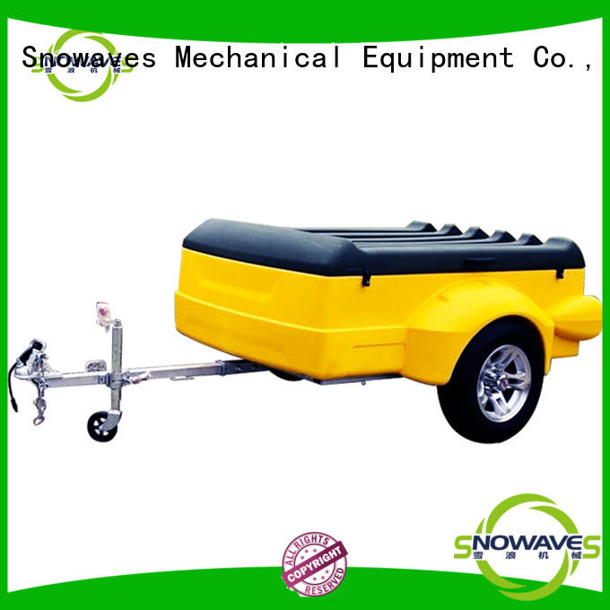 Snowaves Mechanical waterproof plastic utility trailer for business for webbing strap