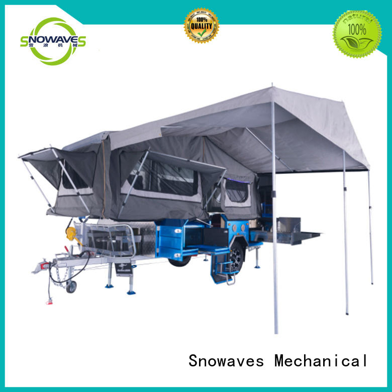 Snowaves Mechanical fold foldable trailer producer for one-way trips