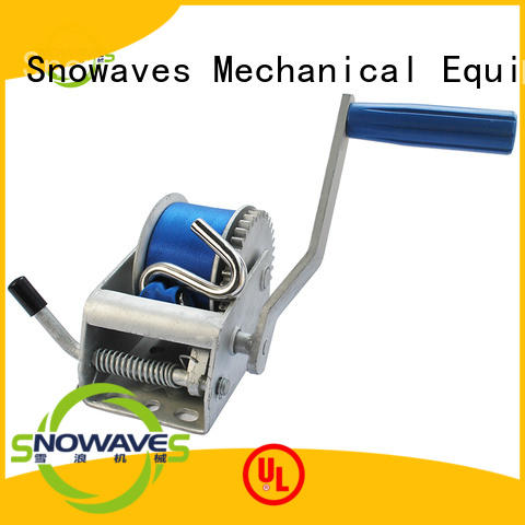 Snowaves Mechanical winch boat hand winch company for outings