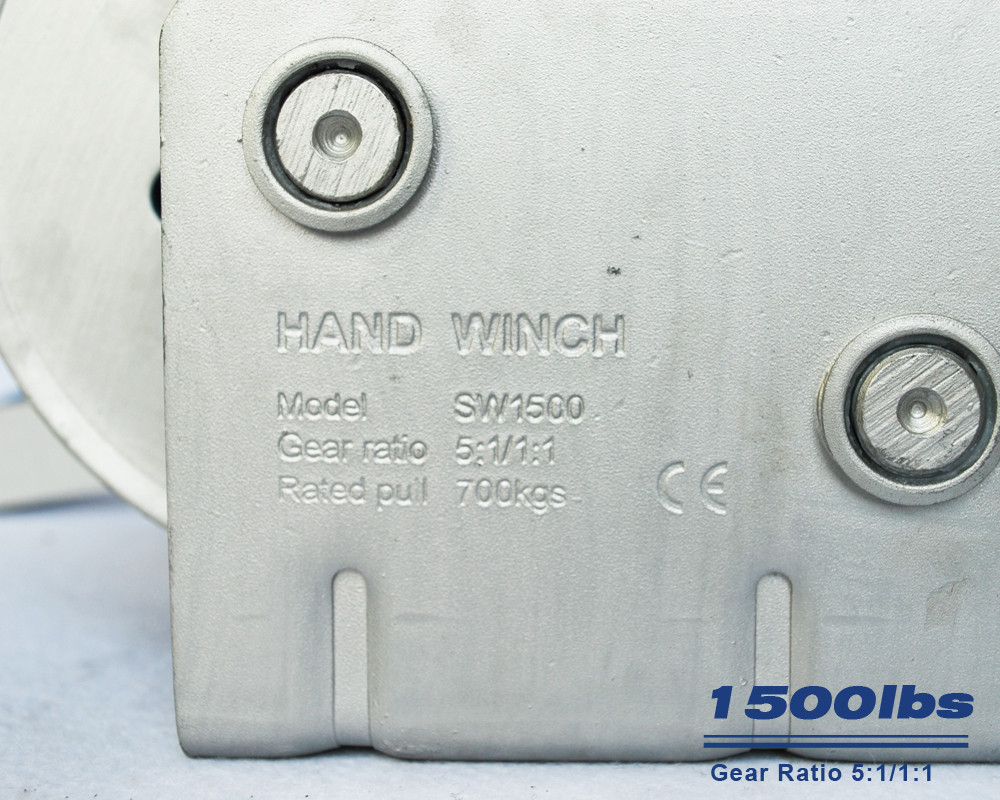 Trailer hand winch 5:1/1:1(2 speed) 700kg pulling SW1500A-4