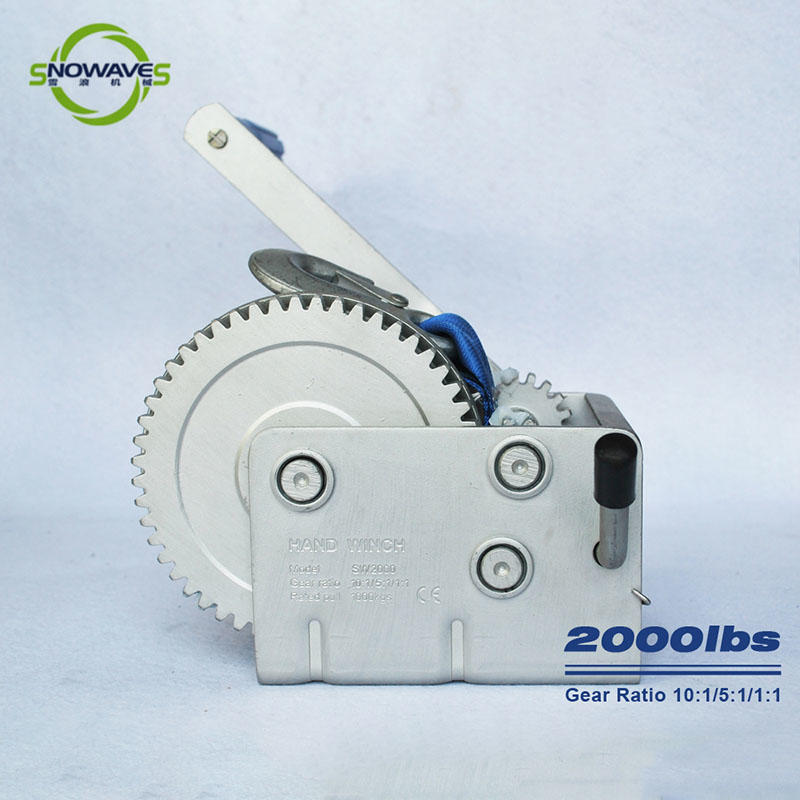 Best Trailer hand winch 10:1/5:1/1:1(3 speed) 1000kg pulling SW2000