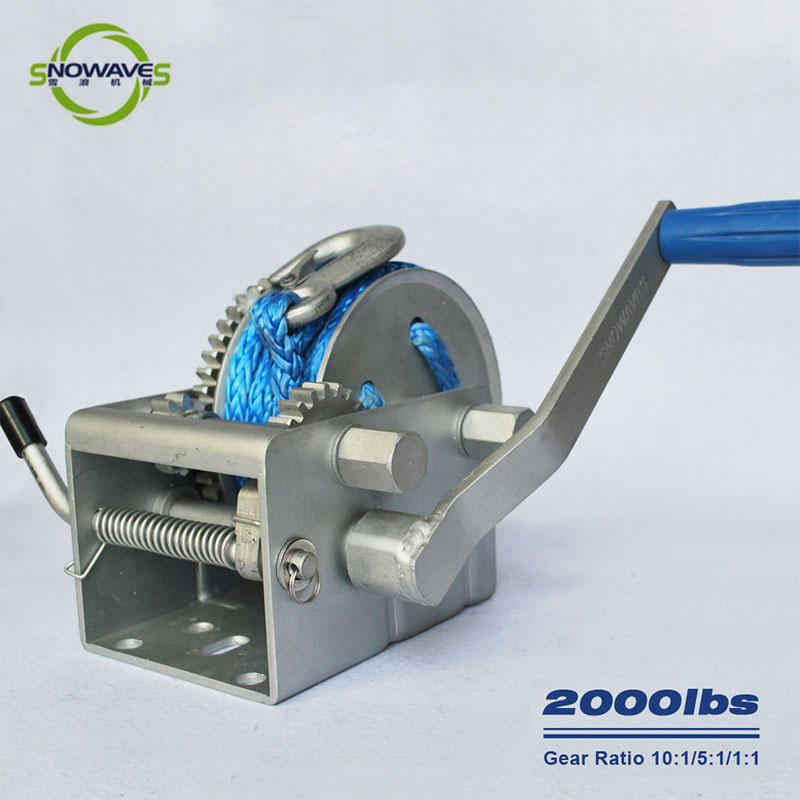 Snowaves Mechanical Custom marine winch for business for camping-1