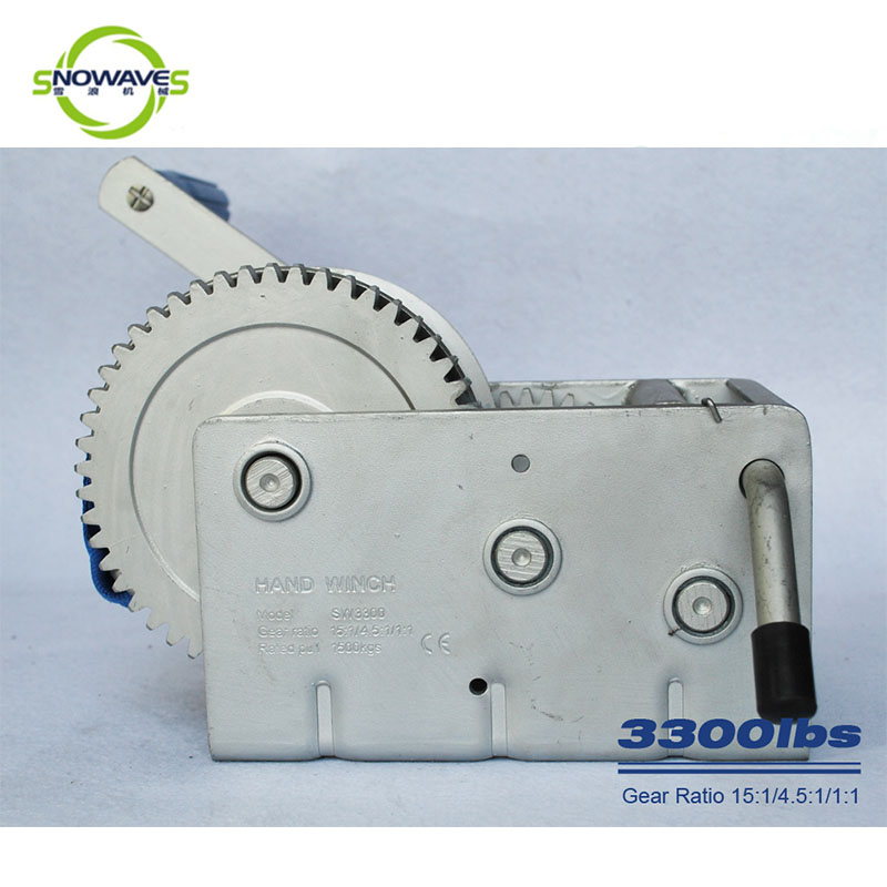 Snowaves Mechanical trailer marine winch factory for trips-1